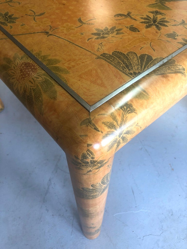 Fabric Karl Springer Batik Game Table For Sale