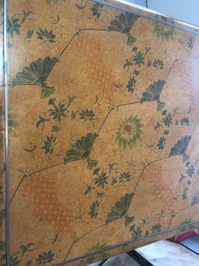 Karl Springer Batik Game Table For Sale 3