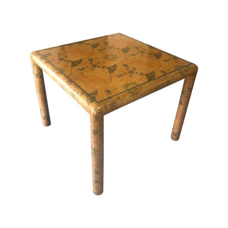 Karl Springer Batik Game Table For Sale