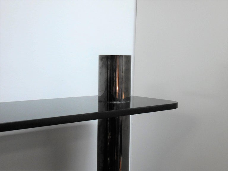 Karl Springer Bronze and Glass Bookcase Wall Unit, 1975 For Sale 5