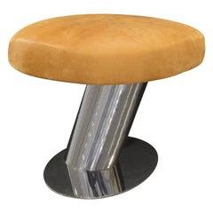 Karl Springer Cantilevered Mushroom Bench 1980s 'signed'
