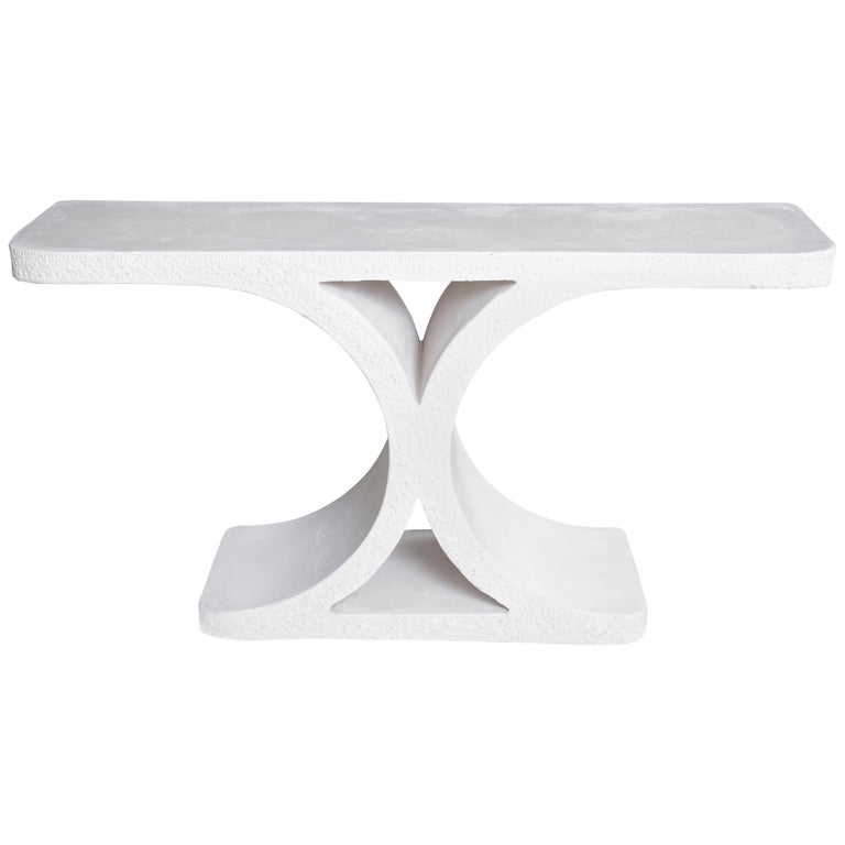 Karl Springer Cast Stone Console For Sale At 1stdibs