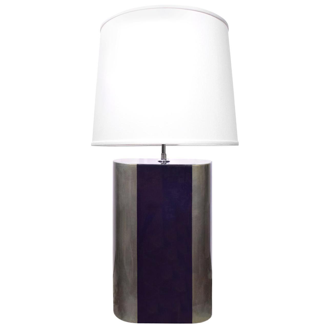 Karl Springer Chic Artisan Table Lamp, 1970s
