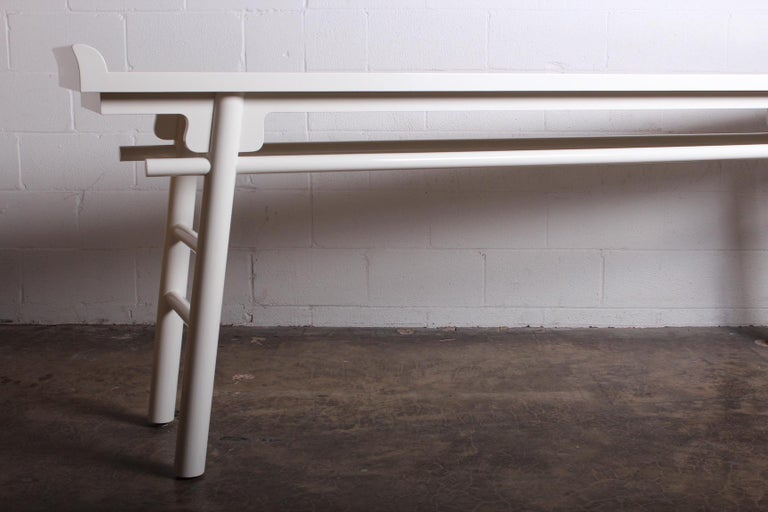 Late 20th Century Karl Springer Console Table For Sale