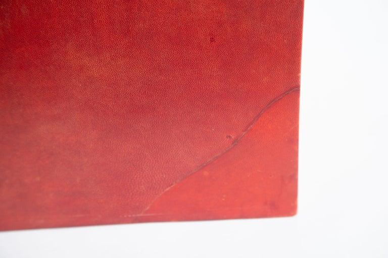 Karl Springer Dyed Goatskin Wastebasket In Good Condition For Sale In West Palm Beach, FL