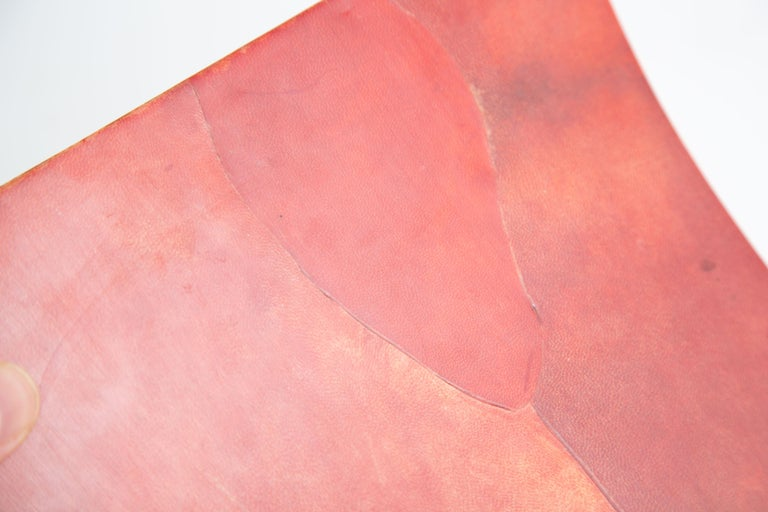 Karl Springer Dyed Goatskin Wastebasket For Sale 1