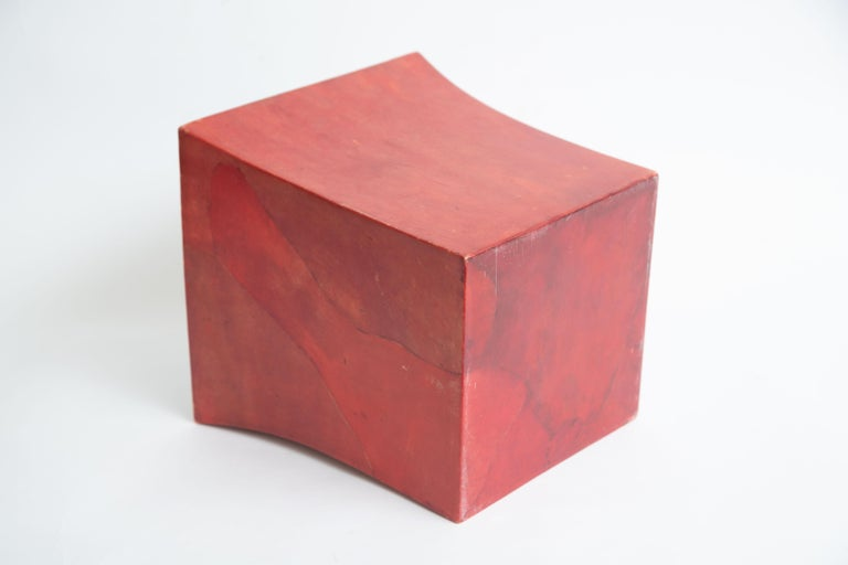 Karl Springer Dyed Goatskin Wastebasket For Sale 2