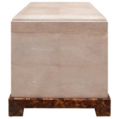 "Karl Springer Exceptional ""Kyoto Box"" End Table in Shagreen, 1980s"