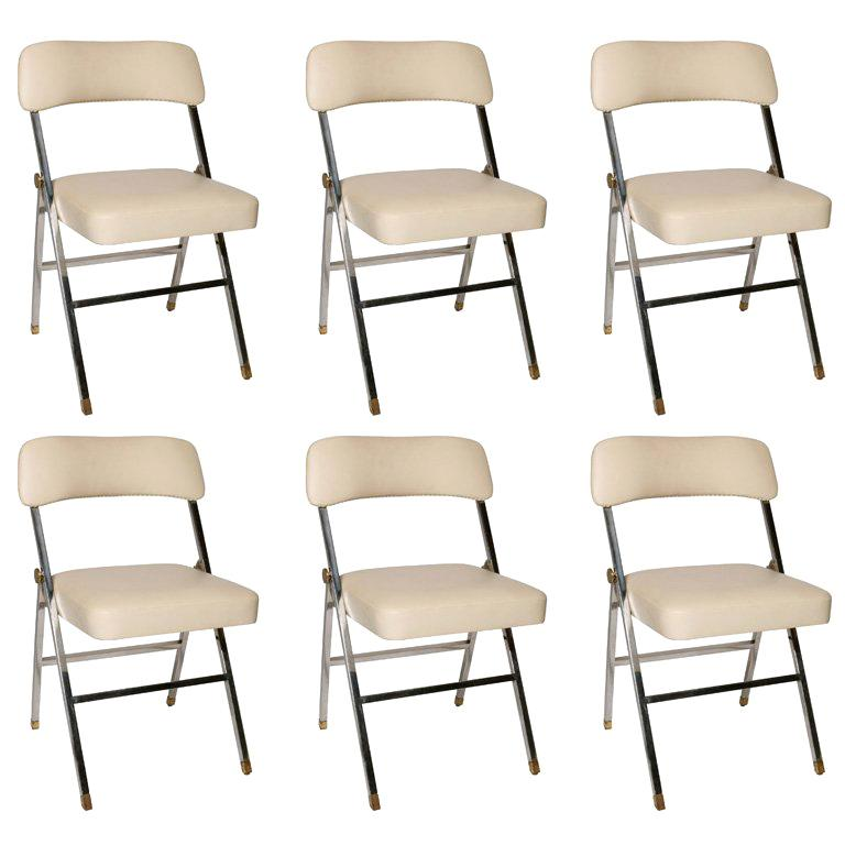 Karl Springer  Folding Chairs For Sale