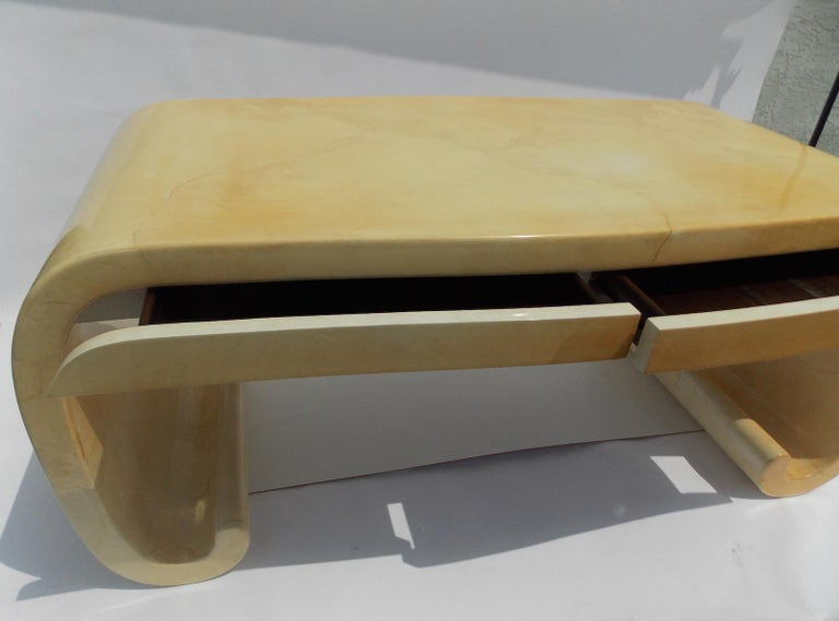 Karl Springer Goatskin Desk For Sale 9