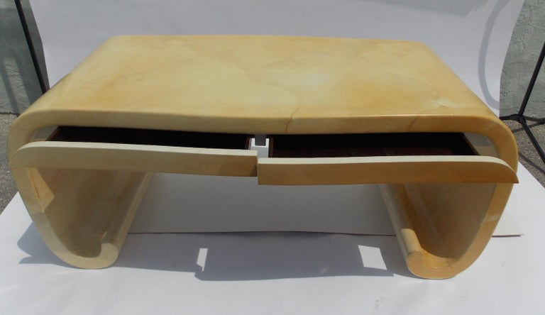 Karl Springer Goatskin Desk For Sale 1