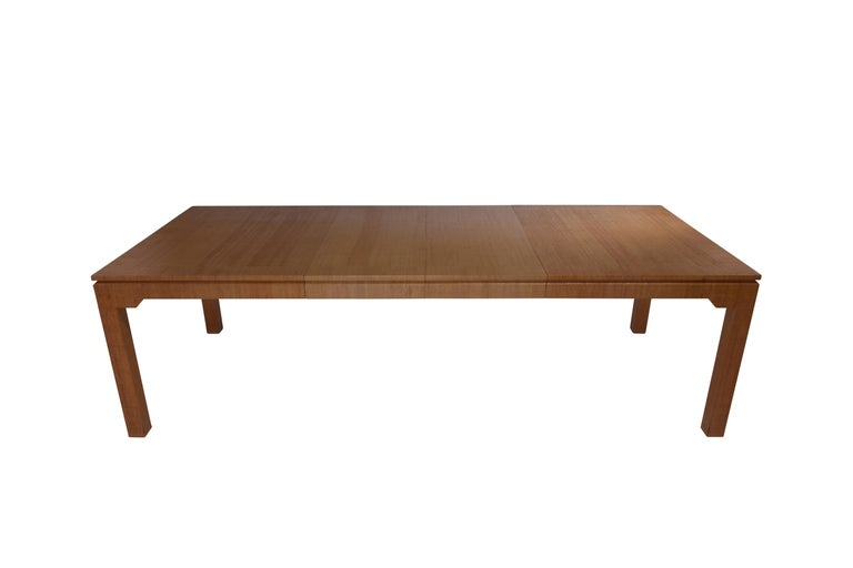American Karl Springer Grasscloth Covered Dining Table