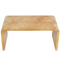 Karl Springer Lacquered Goatskin Coffee Table