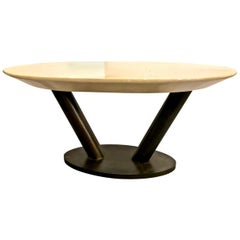 Karl Springer Lacquered Goatskin Table