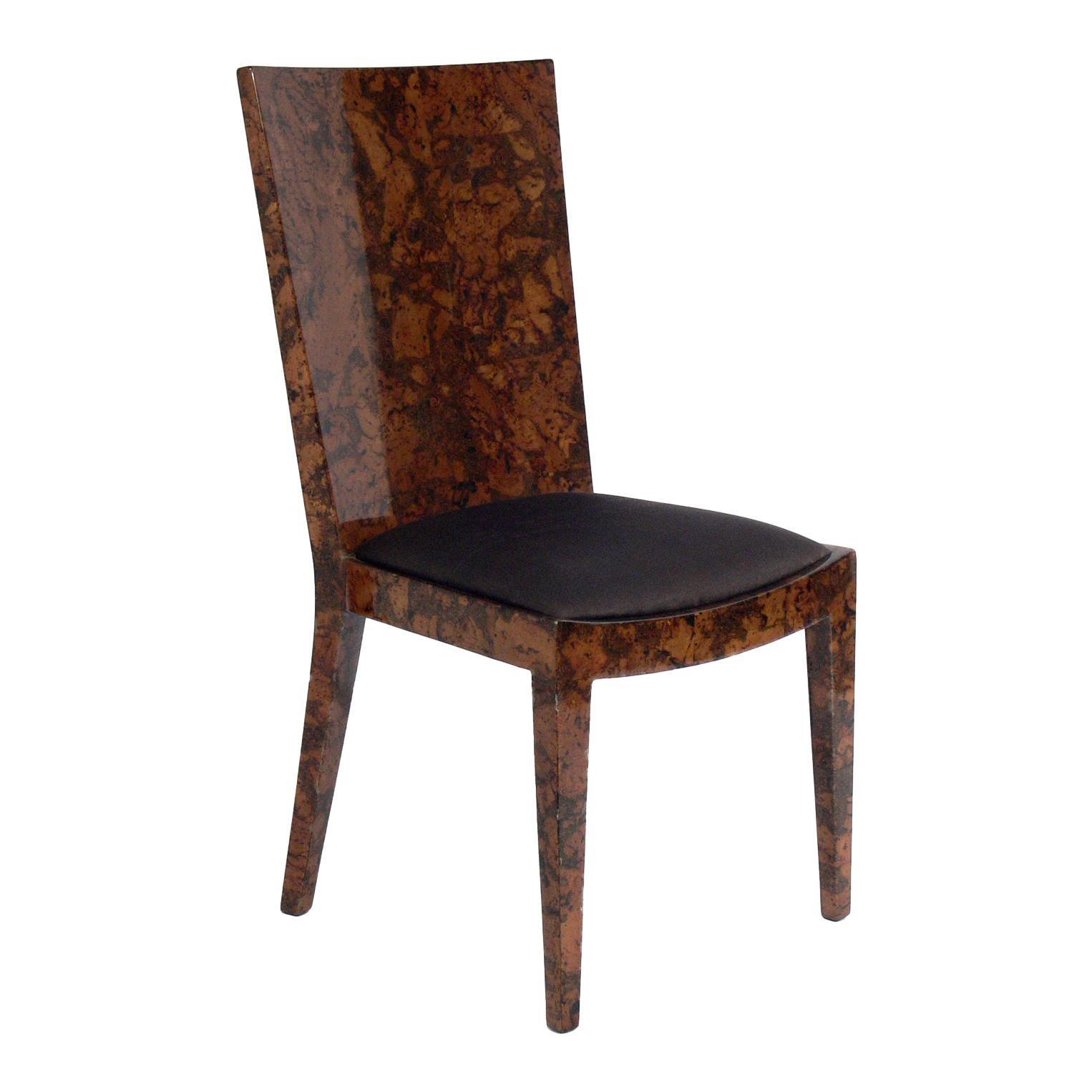 Karl Springer Lacquered Shell JMF Chair