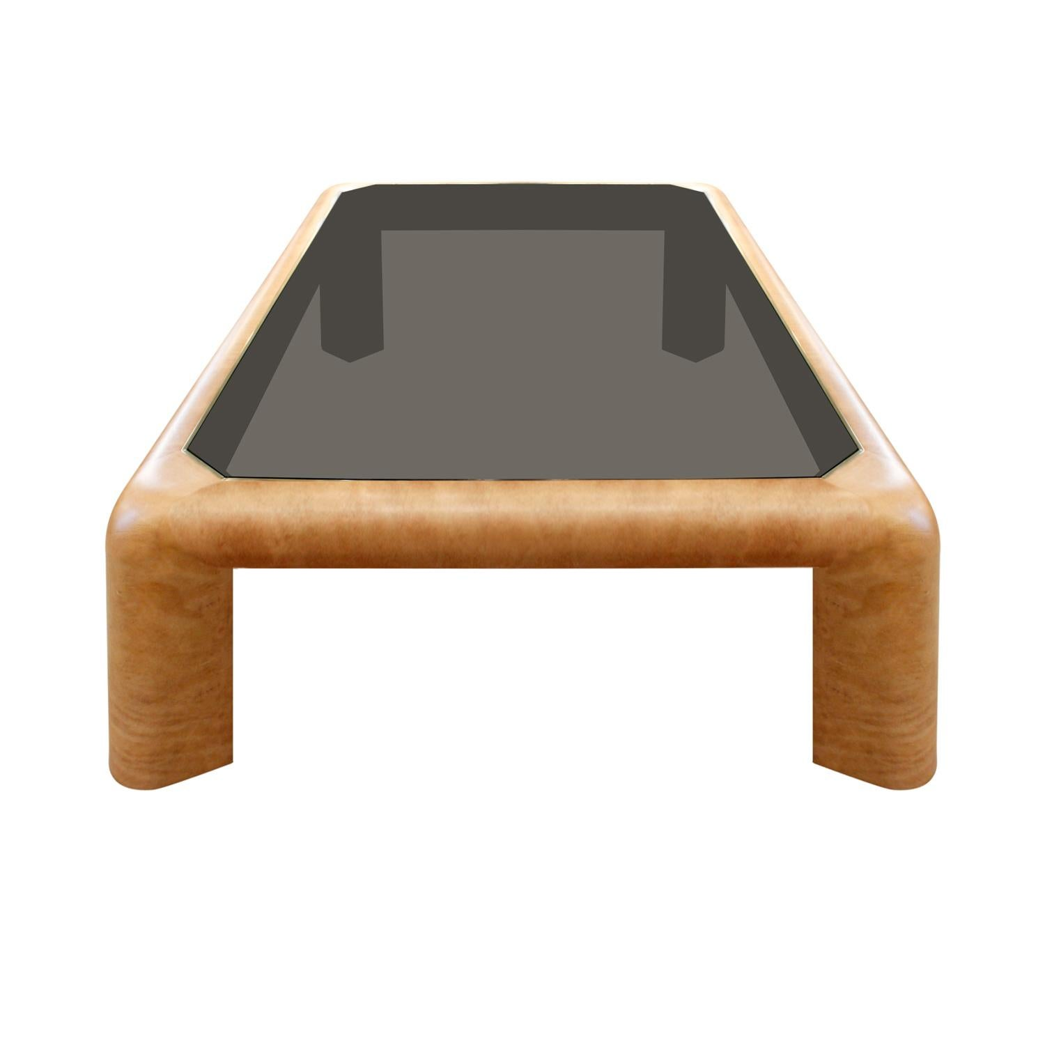Karl Springer Large Mark Ii Coffee Table In Leather 1983