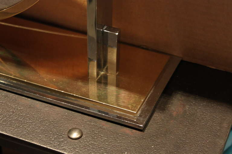 Karl Springer Large Size Table Top Vanity Mirror, 1970 In Good Condition For Sale In New York, NY