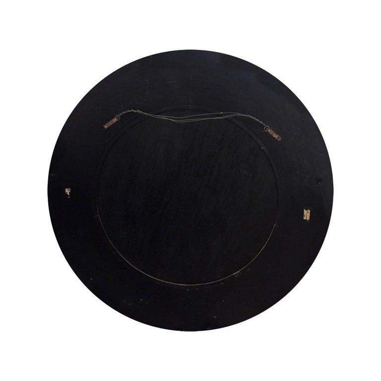 American Karl Springer Large Wall Hanging Mirror in Tessellated Horn, 1970s For Sale