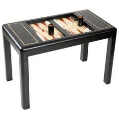 Karl Springer Leather-Clad Game Table