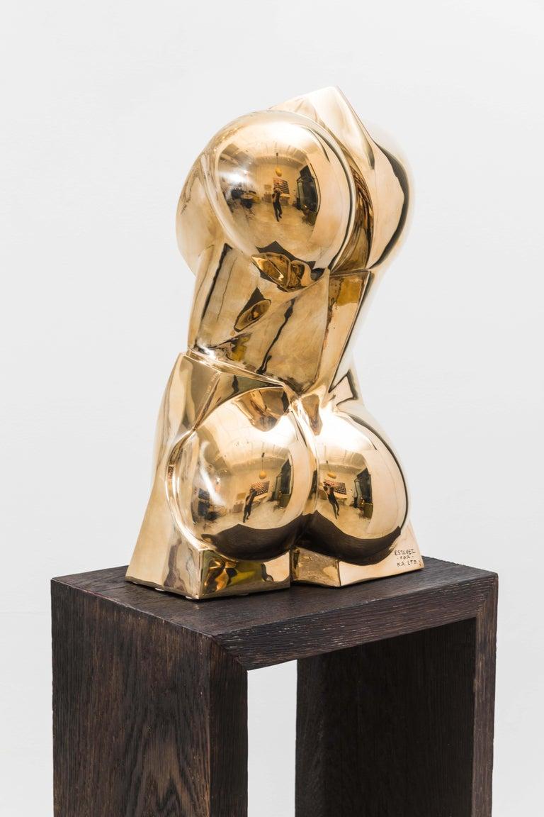 Patinated Karl Springer LTD, Torso Sculpture in Polished Bronze, USA For Sale