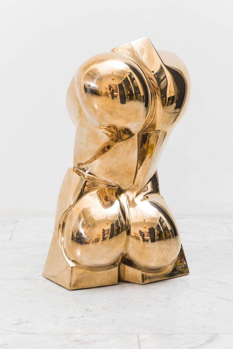 Karl Springer LTD, Torso Sculpture in Polished Bronze, USA In New Condition For Sale In New York, NY