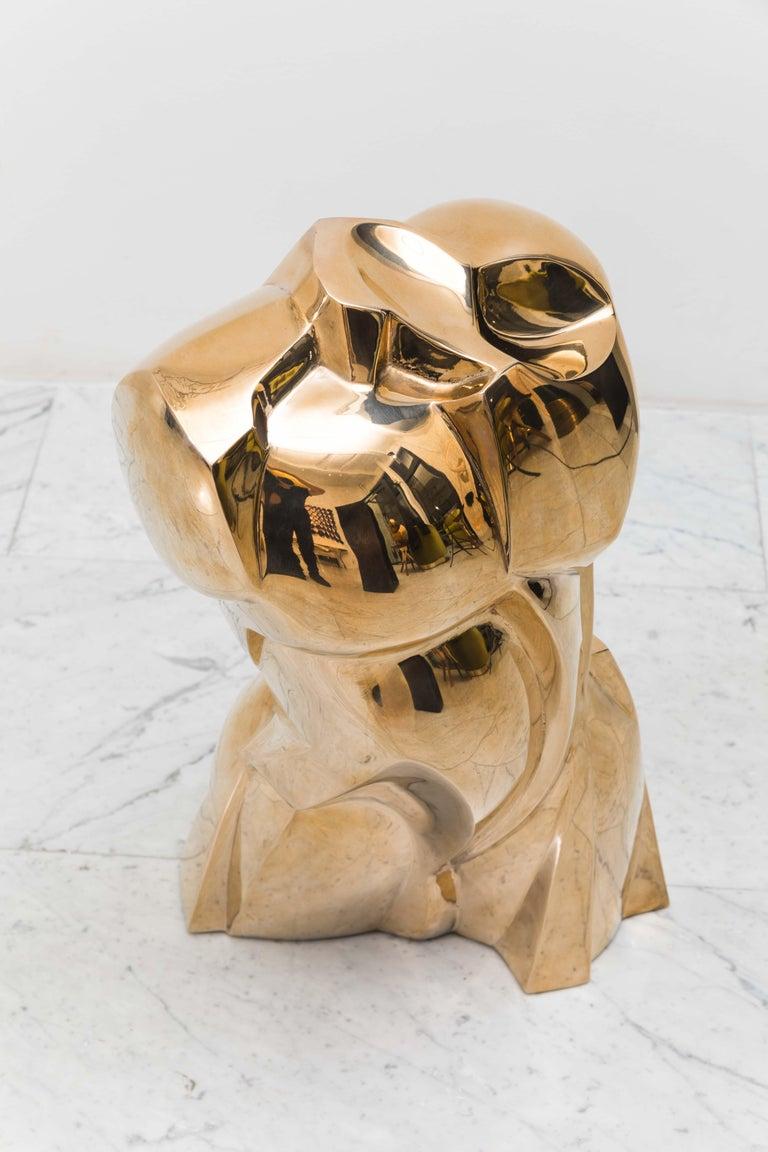 Karl Springer LTD, Torso Sculpture in Polished Bronze, USA For Sale 1