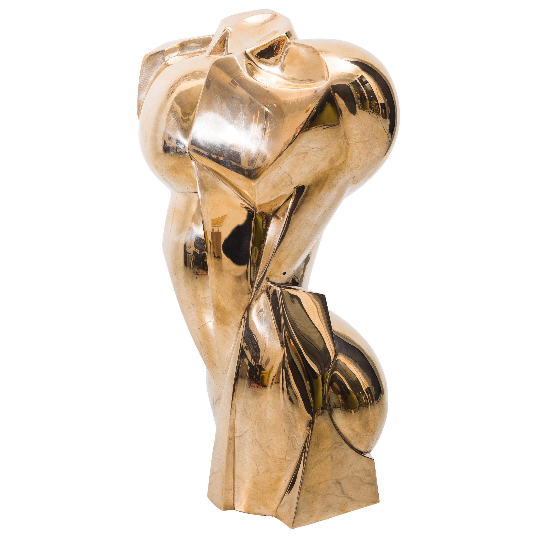 Karl Springer LTD, Torso Sculpture in Polished Bronze, USA