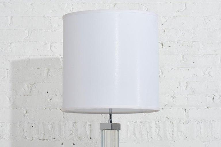 Mid-Century Modern Karl Springer Lucite Floor Lamp, 1970 For Sale