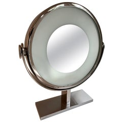 Karl Springer Magnified Vanity Mirror with Light
