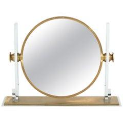 Karl Springer Mirror, Brass and Chrome