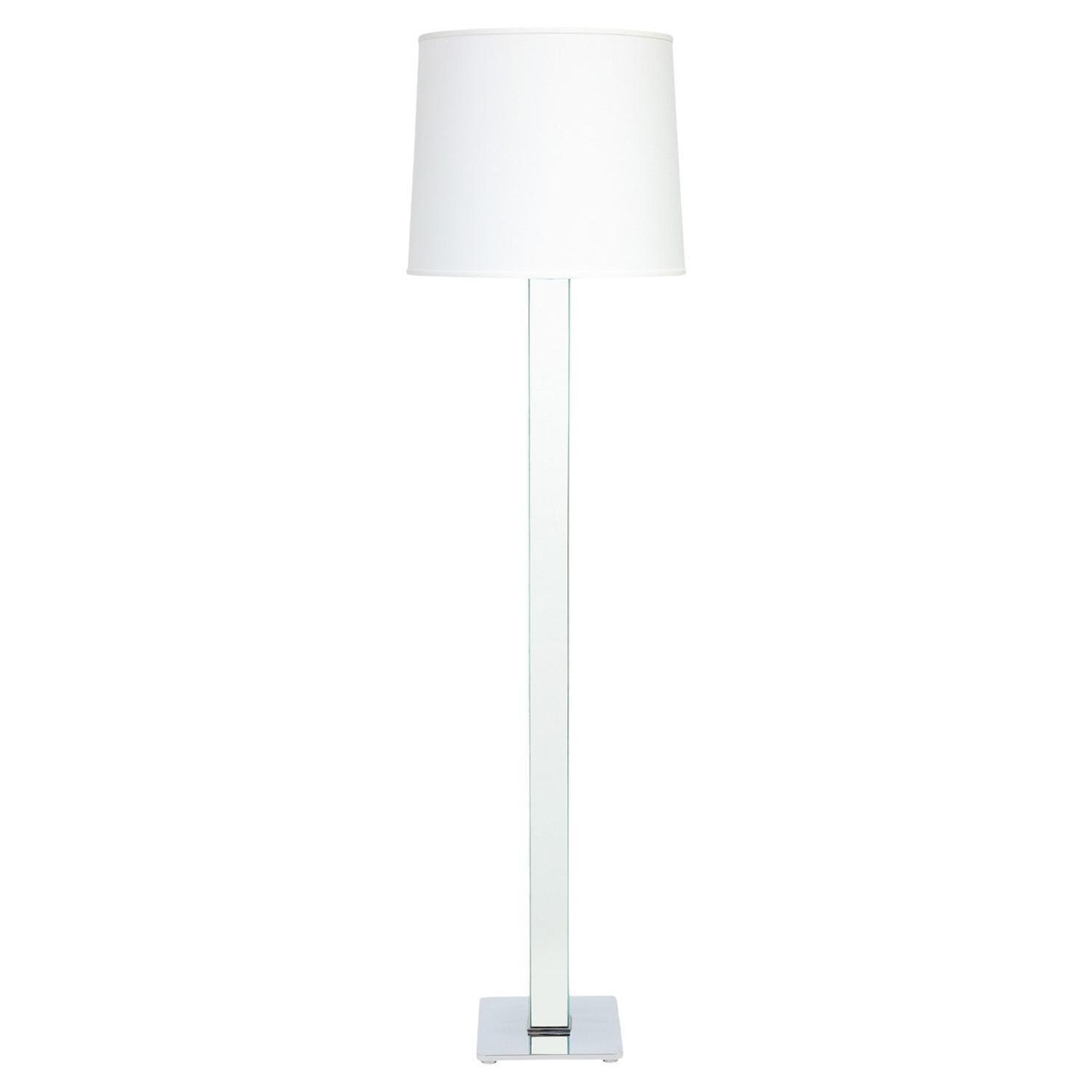 """Karl Springer """"Mirrored Column Floor Lamp"""" 1970s"""