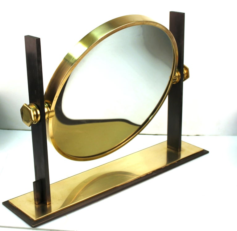 American Karl Springer Modern Vanity or Table Mirror For Sale