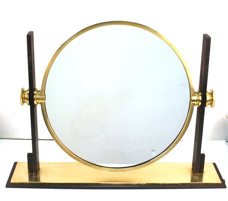 Karl Springer Modern Vanity or Table Mirror In Good Condition For Sale In New York, NY