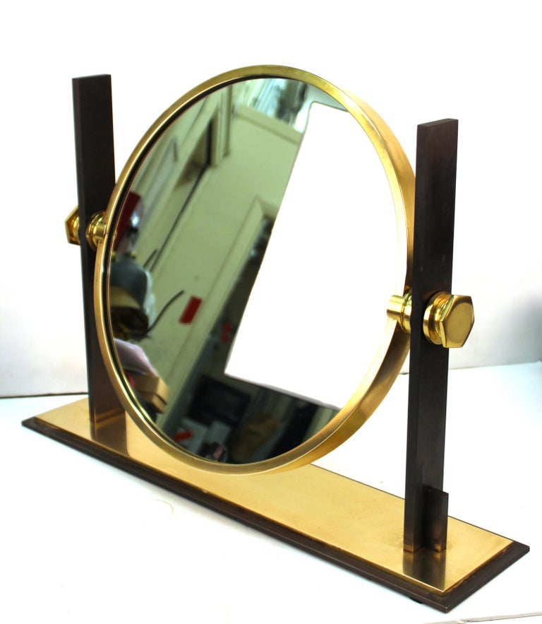 Karl Springer Modern Vanity or Table Mirror For Sale 2