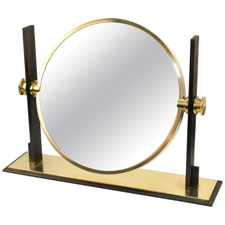 Karl Springer Modern Vanity or Table Mirror For Sale