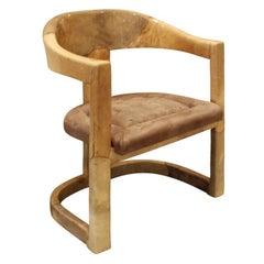 "Karl Springer ""Onassis Chair"" in Lacquered Goatskin, 1970s"