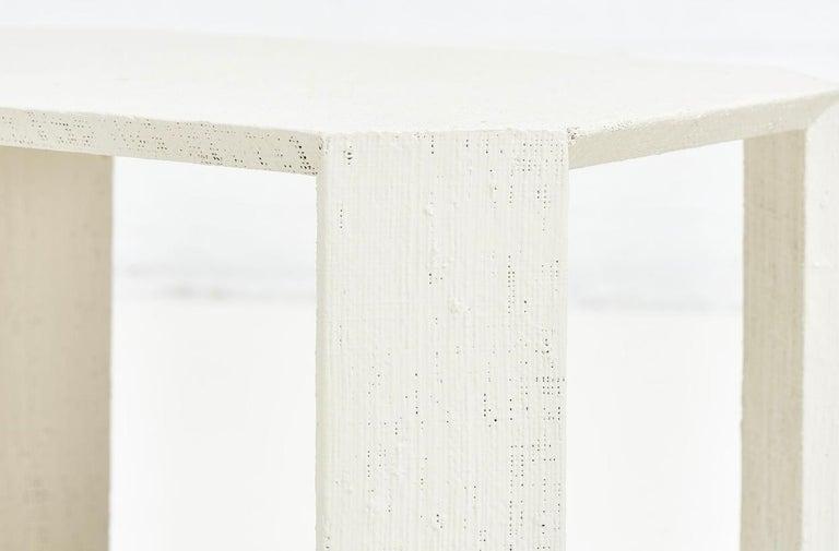 Karl Springer Pair Grasscloth Side Tables, 1970 For Sale 1