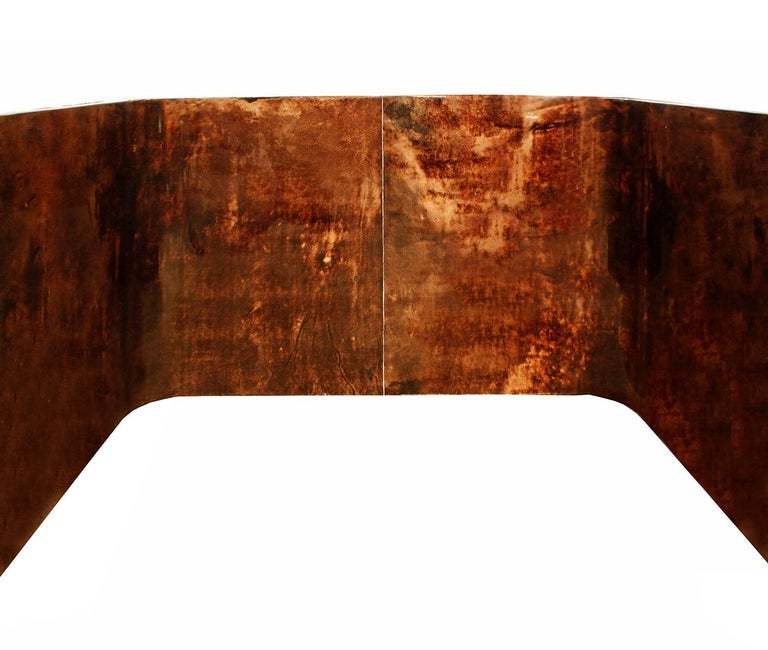 Karl Springer Petit Coffee Table in Lacquered Goatskin, 1970s In Excellent Condition For Sale In New York, NY