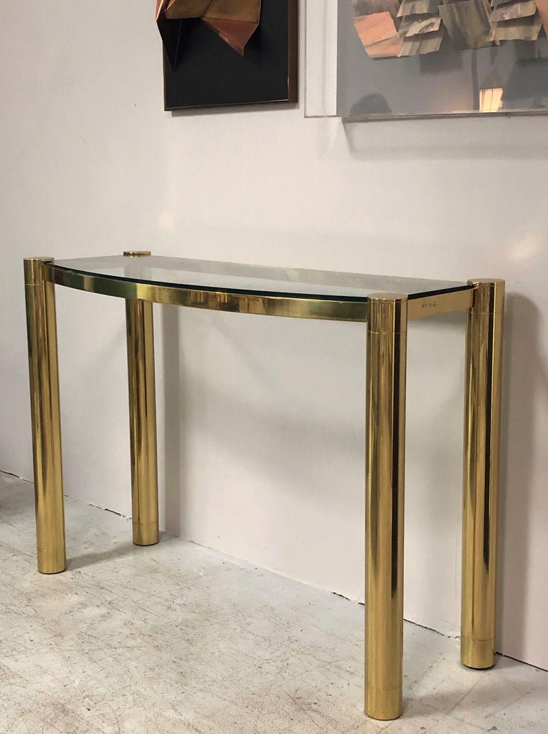 Karl Springer Polished Bronze Console Table For Sale 1