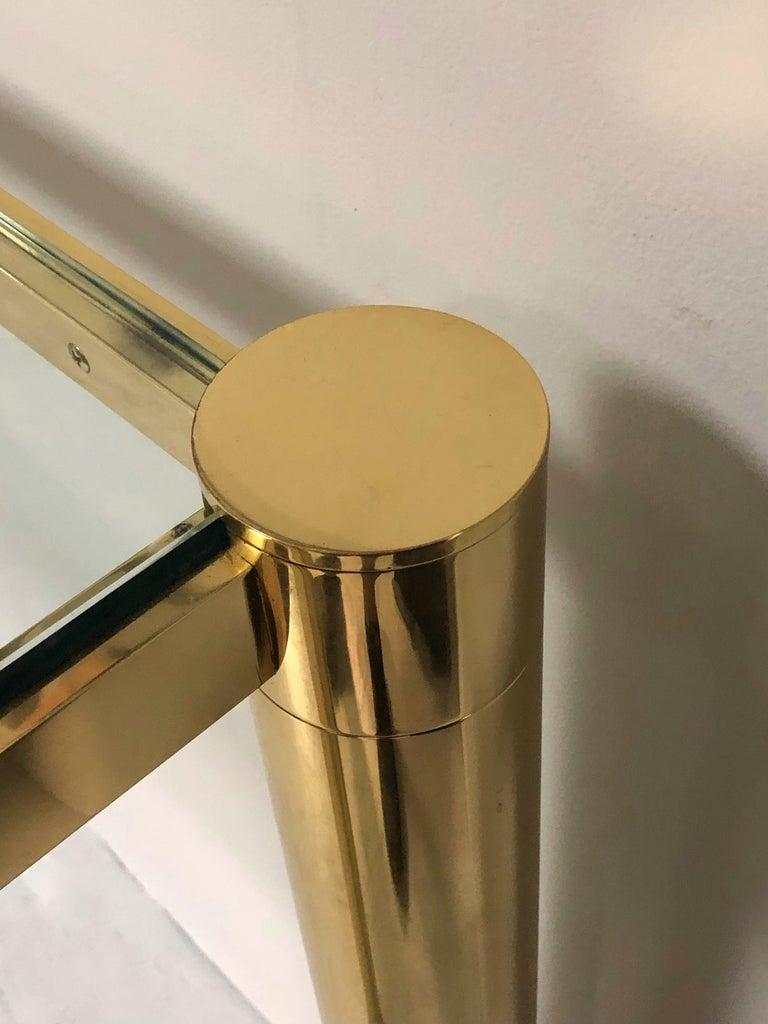 Karl Springer Polished Bronze Console Table For Sale 3