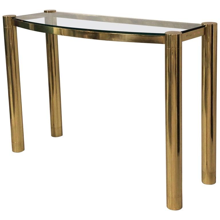 Karl Springer Polished Bronze Console Table For Sale