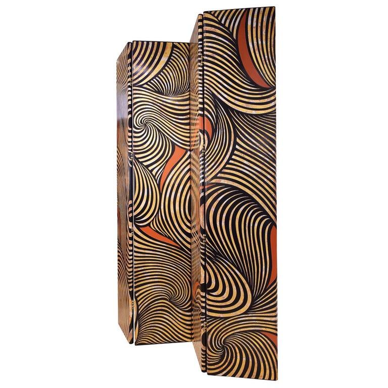 Modern Karl Springer Rare 4-Panel