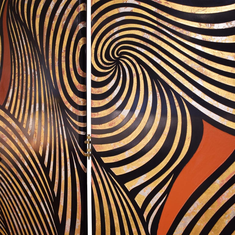 Late 20th Century Karl Springer Rare 4-Panel