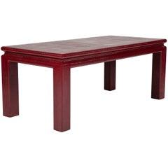 Karl Springer Red Lizard Coffee Table