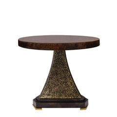 "Karl Springer ""Regency Side Table"" in Lacquered Goatskin, 1993"