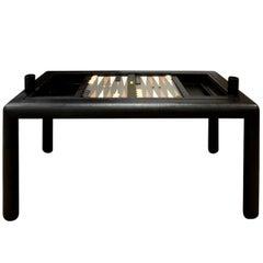 Karl Springer Rotating Backgammon Game Table, 1970s