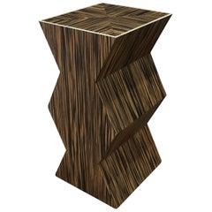 Karl Springer Sculptural Side Table with Bone Inlays, 1980s