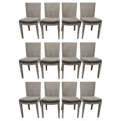 "Karl Springer Set of 12 ""J.M.F. Dining Chairs"", 1970s"