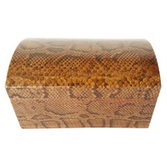 Karl Springer Snakeskin Box