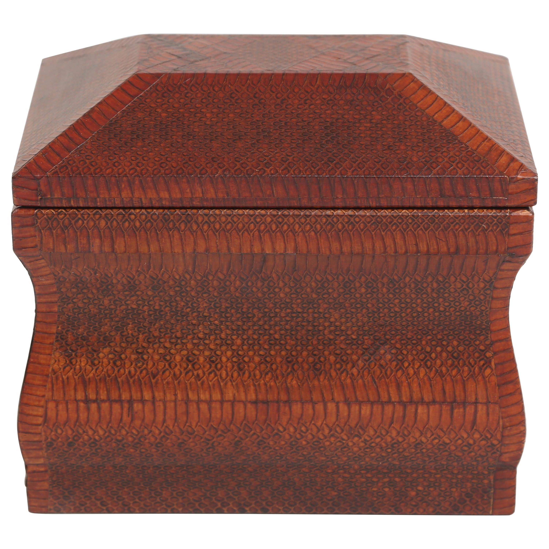 Karl Springer Snakeskin Covered Box